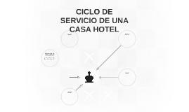 CICLO DE SERVICIO DE UNA CASA HOTEL