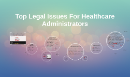 Copy of Top Legal Issues For Healthcare Administrators