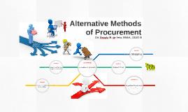 Copy of Alternative Methods of Procurement