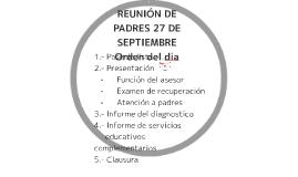 REUNIÓN DE PADRES 27 DE SEPTIEMBRE