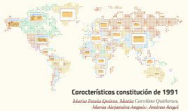 Características constitución de 1991