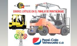 ERRORES CRÍTICOS MANEJO DE MONTACARGAS