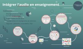 Intégrer l'audio en enseignement
