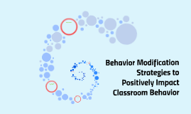 Behavior Modification Strategies to Positively Impact