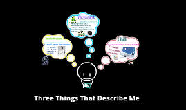 three things describe me essay Brainstorm about some of the things you might want to write about cut out fluff and replace it with new and interesting information) a thesis is no more than a point you're trying to make by using your three main ideas what is a describing myself essay let's take a look at some useful recommendations.