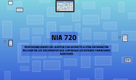 NIA 720 REDACCION DE INFORMES