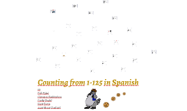 Copy of Spanish Counting
