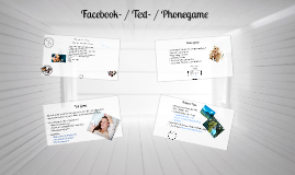 Facebook- / Text- / Phonegame