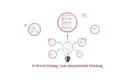 In Room Dining June Department meeting