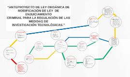 """""""ANTEPROYECTO DE LEY ORGÁNICA DE"""