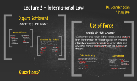 Lecture 3 - International Law