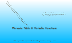 Periodic Table & Functions