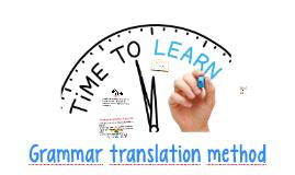 Grammar–translation method