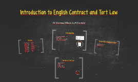 Introduction to English Contract and Tort Law 1