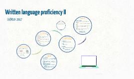 Written language proficiency II L6EN10 2016