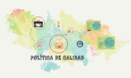 POLÍTICAS DE CALIDAD