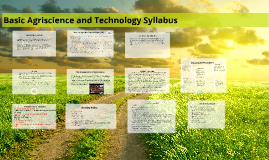 Spring 2017 Basic Agriscience Syllabus and Student Handbook