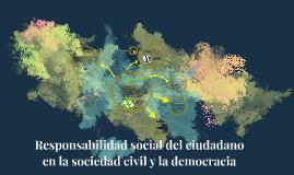 Responsabilidad social del ciudadano en la sociedad civil y