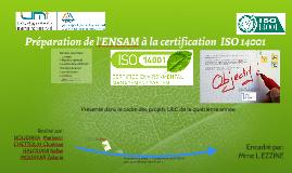 Certification de l'ENSAM , ISO 14001