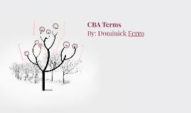 CBA terms
