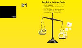 conflict national park