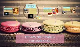 FIESTAS NACIONALES COLOMBIANAS.