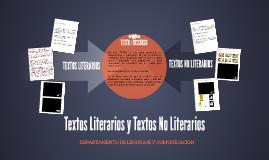 Textos Literario y Textos No Literarios