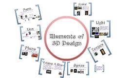 Elements & Principles of Three-Dimensional Design