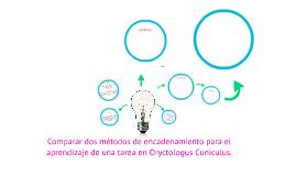 Comparar dos métodos de encadenamiento para el aprendizaje d