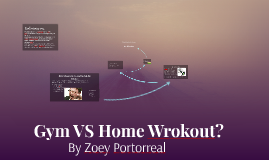 Gym VS Home Wrokout?