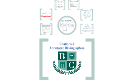 Citations and Annotated Bibliographies