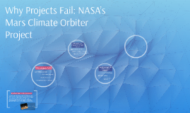 Why Projects Fail: NASA's Mars Climate Orbiter Project