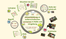 Außerschulische Lernorte in Halle und Umgebung