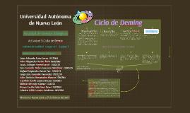 Actividad 5 Grupo 411 Equipo 3 mapa conceptual Ciclo de Deming
