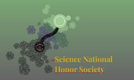 Science National Honor Society