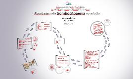 Abordagem da trombocitopenia no adulto