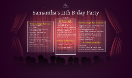 Samantha's 13th B-day Party