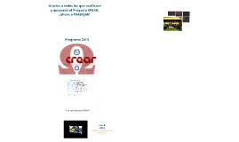Programa Lista B - Crear - CAE 2013