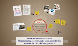 Taller para Periodistas 2015