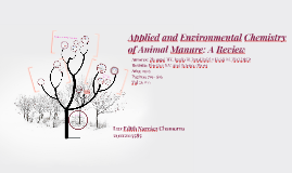 Applied and Environmental Chemistry of Animal Manure: A Revi