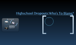 Highschool Dropouts:Who's To blame?
