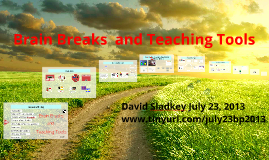 Energizing Brain Breaks and Teaching Tools:  The Naperville Way