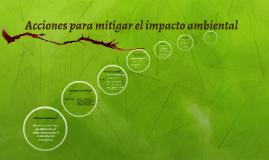 ACCIONES PARA MITIGAR EL IMPACTO AMBIENTAL