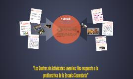 """""""Los Centros de Actividades Juveniles: Una respuesta a la pr"""