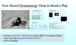 Story and Plot: The Basics of Dramaturgy