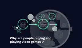 Why are people buying and playing video games ?