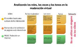 analizando los roles, las voces y los tonos en la moderación