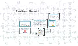 Quantitative Methods II