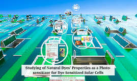 Studying of Natural Dyes' Properties as a Photo-sensitizer f
