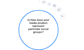 2) How does your media product represent particular social g